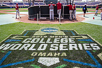 TD Ameritrade Park before Game 5 of the NCAA College World Series against the Texas Tech Red Raiders on June 17, 2019 in Omaha, Nebraska. Texas Tech defeated Arkansas 5-4. (Andrew Woolley/Four Seam Images)