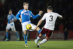 St Johnstone v Rangers…28.12.16     McDiarmid Park    SPFL<br />David Wotherspoon gets a sore one from Clint Hill<br />Picture by Graeme Hart.<br />Copyright Perthshire Picture Agency<br />Tel: 01738 623350  Mobile: 07990 594431