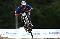 29th August 2021; Commezzadura, Trentino, Italy; 2021 Mountain Bike Cycling World Championships, Val di Sole; Downhill; Downhill final men, Luca Shaw (USA)
