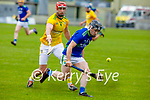 Kerry's Maurice O'Connor gets past Meaths James Toher in the National hurling league in Austin Stack Park on Sunday