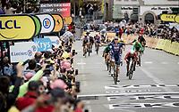 Tim Merlier (BEL/Alpecin-Fenix) wins the bunch sprint into Pontivy <br /> <br /> Stage 3 from Lorient to Pontivy (183km)<br /> 108th Tour de France 2021 (2.UWT)<br /> <br /> ©kramon