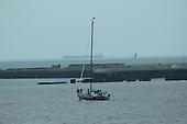 Sailboat Leaving Harbor