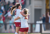 Stanford, Ca. - November 19, 2017: The Stanford Cardinal Women's Soccer Team vs the Florida State Seminoles in the 3rd round of the 2017 NCAA Playoffs. The Stanford Cardinal win 1-0.