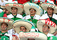The Sombrero section at the stadium. Mexico and Angola played to a 0-0 tie in their FIFA World Cup Group D match at FIFA World Cup Stadium, Hanover, Germany, June 16, 2006.
