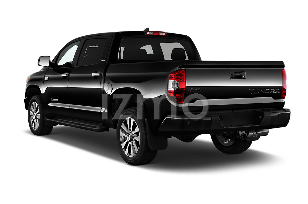 Car pictures of rear three quarter view of 2020 Toyota Tundra Limited-5.7L-Crew-Max-Short-Bed 4 Door Pick-up Angular Rear