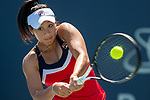 July 28, 2019: Priscilla Hon (AUS) in action where she was defeated by Harmony Tan (FRA) 5-7, 6-3, 6-1 in the second round of qualifying in the Mubadala Silicon Valley Classic at San Jose State in San Jose, California. ©Mal Taam/TennisClix/CSM