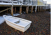 Skiff & Snowy Lobster Traps on Dock  #S19