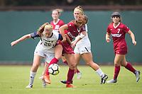 STANFORD, CA - September 3, 2017: Jordan DiBiasi at Cagan Stadium. Stanford defeated Navy 7-0.