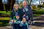 Enjoying a stroll in the Demesne in Killarney on Saturday, l to r: Ben, Finn, Mary and Michael Cronin.