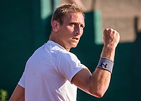 The Hague, Netherlands, 18 July, 2017, Tennis,  The Hague Open, Thiemo de Bakker (NED) jubilates<br /> Photo: Henk Koster/tennisimages.com