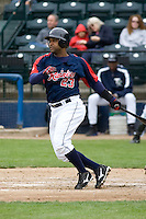 June 1, 2008: Tacoma Rainiers' Victor Diaz at-bat during a Pacific Coast League game against the Salt Lake Bees at Cheney Stadium in Tacoma, Washington.