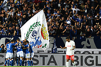Alfredo Donnarumma of Brescia celebrates with team mates after scoring the goal of 1-0 <br /> Brescia 24-09-2019 Stadio Rigamonti<br /> Football Serie A 2019/2020 Brescia - Juventus  <br /> Photo Matteo Gribaudi / Image Sport / Insidefoto