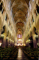 Interior of Notre Dame Cathedral. Paris, France. Paris, France Notre Dame Cathedral.