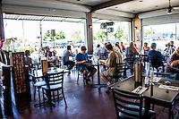 Customers at Pineapples restaurant in Hilo, Big Island of Hawai'i.