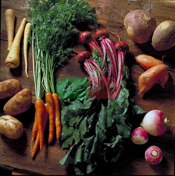 carrots, beets and other root vegetables