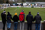Atherton Collieries 1, Boston United 0, 23/11/19. Alder House, FA Trophy, third qualifying round. Home supporters watching the first-half action as Atherton Collieries played Boston United in the FA Trophy third qualifying round at the Skuna Stadium. The home club were formed in 1916 and having secured three promotions in five season played in the Northern Premier League premier division. This was the furthest they had progressed in the FA Trophy and defeated their rivals from the National League North by 1-0, Mike Brewster scoring a late winner watched by a crowd of 303 spectators. Photo by Colin McPherson.