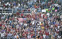 USA fans. The USA defeated China, 4-1, in an international friendly at Spartan Stadium, San Jose, CA on June 2, 2007.