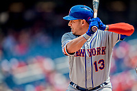 29 April 2017: New York Mets infielder Asdrubal Cabrera at bat in the first inning against the Washington Nationals at Nationals Park in Washington, DC. The Mets defeated the Nationals 5-3 to take the second game of their 3-game weekend series. Mandatory Credit: Ed Wolfstein Photo *** RAW (NEF) Image File Available ***