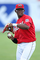 Batavia Muckdogs outfielder Rainel Rosario (30) during a game vs. the Mahoning Valley Scrappers at Dwyer Stadium in Batavia, New York June 28, 2010.   Batavia defeated Mahoning Valley 11-3.  Photo By Mike Janes/Four Seam Images