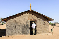 KENYA Turkana, Lodwar, church  in village / KENIA, Turkana, Lodwar, Kirche in einem Dorf