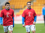 St Johnstone v Kilmarnock…15.10.16.. McDiarmid Park   SPFL<br />Michael Coulson and Chris Millar wearing Show Racism The Red Card t-shirts<br />Picture by Graeme Hart.<br />Copyright Perthshire Picture Agency<br />Tel: 01738 623350  Mobile: 07990 594431