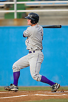 Dale Mollenhauer #5 of the Winston-Salem Dash follows through on his swing versus the Potomac Nationals at Pfitzner Stadium June 11, 2009 in Woodbridge, Virginia. (Photo by Brian Westerholt / Four Seam Images)