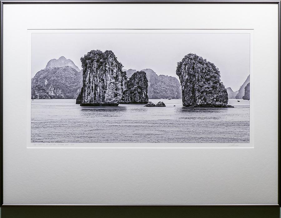 """Framed Size 22""""h x 30""""w, $675.<br /> Graphite Nielsen 15 metal frame"""