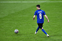 6th July 2021; Wembley Stadium, London, England; Euro 2020 Football Championships semi-final, Italy versus Spain;  Jorginho (Ita) scores the last penalty kick in the penalty shoot-out