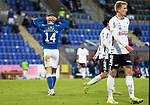 St Johnstone v Lask…26.08.21  McDiarmid Park    Europa Conference League Qualifier<br />Glenn Middleton holds his head after his shot was blocked<br />Picture by Graeme Hart.<br />Copyright Perthshire Picture Agency<br />Tel: 01738 623350  Mobile: 07990 594431