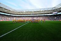 Fifa Women's World Cup Germany 2011 : Zweden - France Frankrijk at Sinsheim World Cup stadium : line-up van de ploegen voor de match.foto DAVID CATRY / Vrouwenteam.be