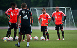 GUANGZHOU, GUANGDONG - JULY 26:  Franck Ribery and Xherdan Shaqiri of Bayern Munich during a training session ahead the friendly match against VfL Wolfsburg as part of the Audi Football Summit 2012 on July 26, 2012 at the Tianhe Sports Stadium in Guangzhou, China. Photo by Victor Fraile / The Power of Sport Images