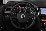 Car pictures of steering wheel view of a 2017 Ssangyong XLV Sapphire 5 Door SUV