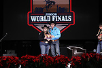 Molli Rae Kinchen during the Break Away and Tie Down Roping Back Number presentation at the Junior World Finals. Photo by Andy Watson. Written permission must be obtained to use this photo in any manner.