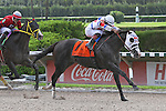 """Bahamian Squall with jockey Luis Saez on board wins the Smile Sprint Handicap G2 """"Win and You're In"""" race for the Breeders' Cup.  Miami Gardens, FL 07-06-13"""