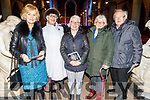 Pearl McGillicuddy, Liz McCannon, Maria Conway, Declan and Angela Moriarty attending the Kerry Choral Union's O'Holy Night concert in St John's Church on Sunday.