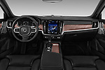 Stock photo of straight dashboard view of a 2017 Volvo V90 Inscription 5 Door Wagon