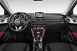 Stock photo of straight dashboard view of 2015 Mazda CX-5 Skycruise 5 Door Suv Dashboard
