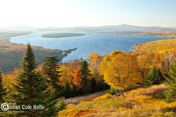 Lake Mooselookmeguntic from the Height of Land overlok in Rangeley, ME, USA