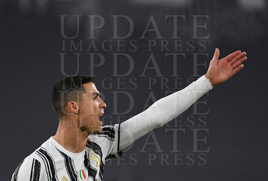 Football Soccer: UEFA Champions League -Round of 16 2nd leg Juventus vs FC Porto, Allianz Stadium. Turin, Italy, March 9, 2021.<br /> Juventus' Cristiano Ronaldo reacts during the Uefa Champions League football soccer match between Juventus and Porto at Allianz Stadium in Turin, on March 9, 2021.<br /> UPDATE IMAGES PRESS/Isabella Bonotto