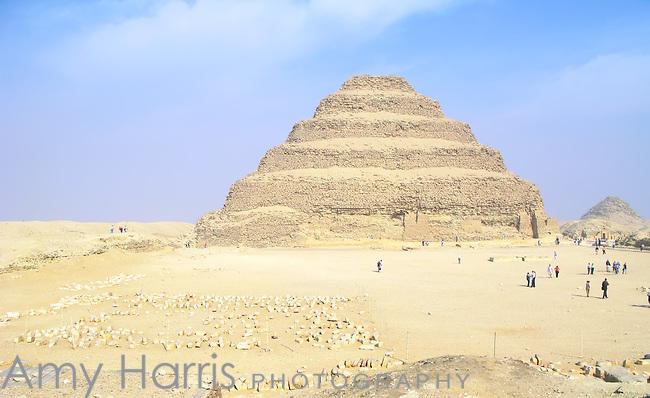 The Step Pyramid of King Djoser at the Egyptian burial ground of Sakkara near Cairo, Egypt.