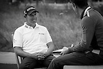 """Padraig Harrington was asked by Ballantine's at the BMW Masters to describe how he stays true to himself; his answer is shown. Ballantine's, who recently announced their new global marketing campaign, """"Stay True, Leave An Impression"""", is a sponsor at the BMW Masters, which takes place from the 24-27 October at Lake Malaren Golf Club in Shanghai.  Photo by Andy Jones / The Power of Sport Images for Ballantines."""