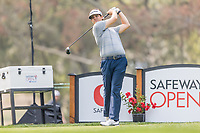 11th September 2020, Napa, California, USA;  Beau Hossler of the United States tees off during the second round of the Safeway Open PGA tournament on September 11, 2020 at Silverado Country Club in Napa, CA.