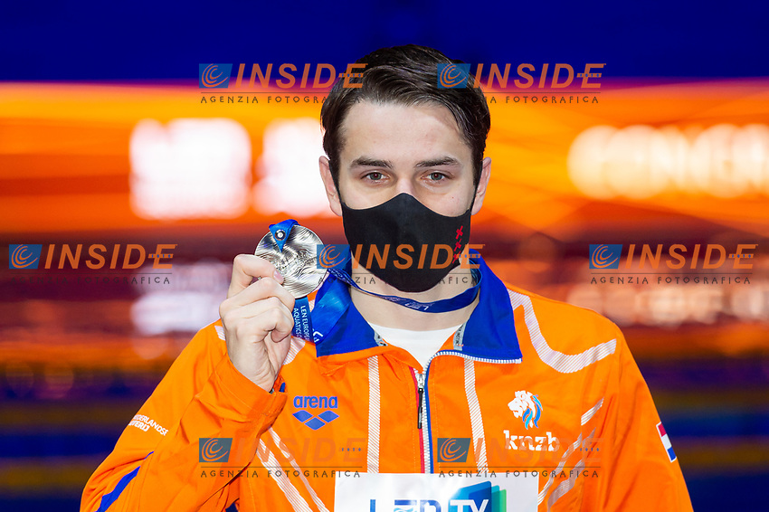 Silver Medal<br /> KAMMINGAArno NED<br /> 100m Breaststroke Men Final<br /> Swimming<br /> Budapest  - Hungary  18/5/2021<br /> Duna Arena<br /> XXXV LEN European Aquatic Championships<br /> Photo Giorgio Perottino / Deepbluemedia / Insidefoto