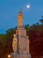 Denkmal am Trg Slobode, Subotica, Vojvodina, Serbien, Europa<br /> Monument at Trg Slobode, Subotica, Vojvodina, Serbia, Europe