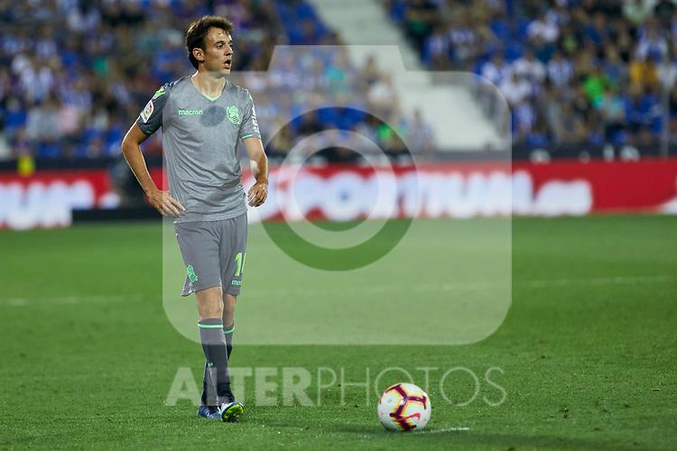 Real Sociedad's Ruen Pardo during La Liga match. August 24, 2018. (ALTERPHOTOS/A. Perez Meca)