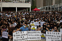 Health sector workers gather to protest the Hong Kong government's refusal to fully withdraw its controversial extradition bill, Hong Kong, China, 02 August 2019.