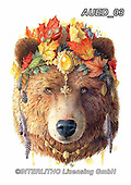 Carlie, REALISTIC ANIMALS, REALISTISCHE TIERE, ANIMALES REALISTICOS, paintings+++++Bear-Spirit-Animal,AUED03,#A#, EVERYDAY,bear ,fantasy