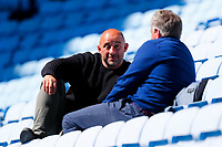 25th April 2021; Ricoh Arena, Coventry, West Midlands, England; English Premiership Rugby, Wasps versus Bath Rugby; TV commentators David Flatman and Mark Durden-Smith relax in the sunshine before kick-off