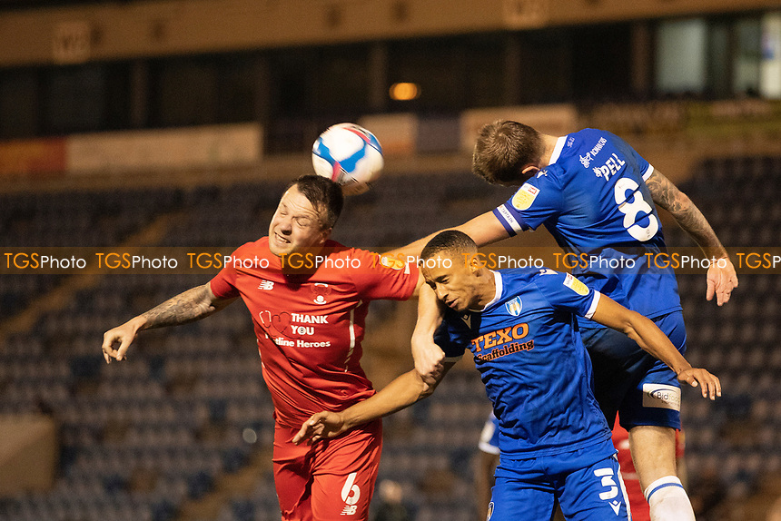 Josh Coulson, Leyton Orient doesn't quite get enough of the ball as the visitors attack during Colchester United vs Leyton Orient, Sky Bet EFL League 2 Football at the JobServe Community Stadium on 14th November 2020