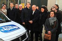 Jeanlouis Missika Christophe Najdovski,Jacques Boutault - LANCEMENT DE L'AUTOPARTAGE DE VULE POUR LES PROFESSIONELS PARISIENS